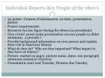 individual reports key people of the 1800 s