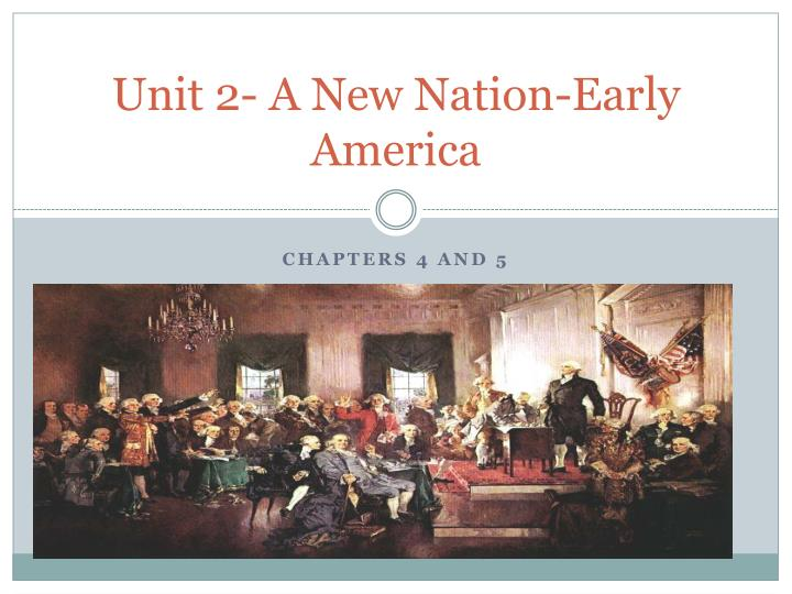 unit 2 a new nation early america n.