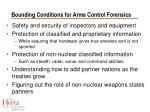 bounding conditions for arms control forensics