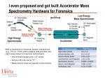 i even proposed and got built accelerator mass spectrometry hardware for forensics
