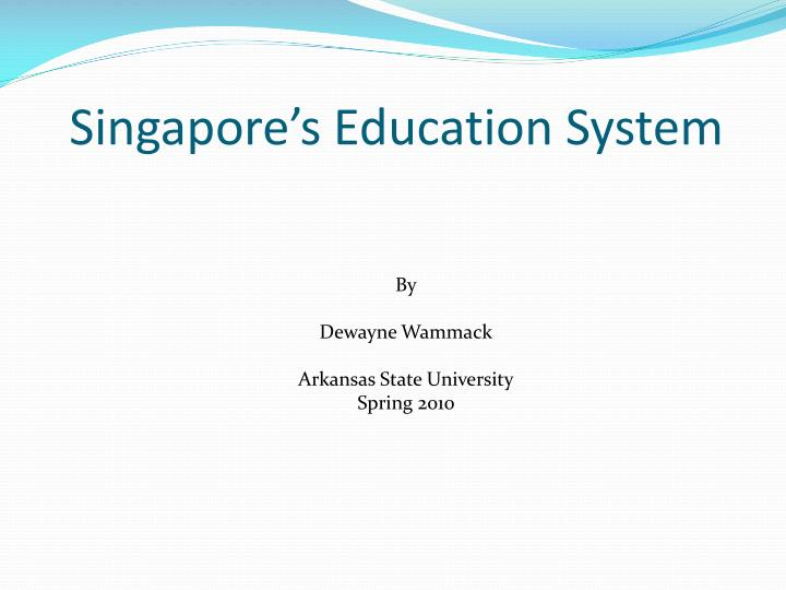 singapore s education system n.