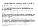 commercial variety and wealth