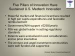 five pillars of innovation have sustained u s medtech innovation