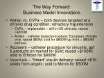 the way forward business model innovations