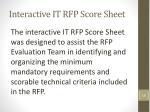 interactive it rfp score sheet