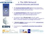 1 the ebn network a community sharing values goals brands
