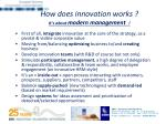 how does innovation works it s about modern management