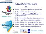 networking clustering yes