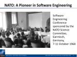 nato a pioneer in software engineering