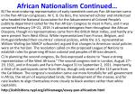 african nationalism continued