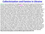 collectivization and famine in ukraine