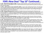 fdr s new deal top 10 continued