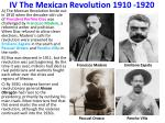 iv the mexican revolution 1910 1920