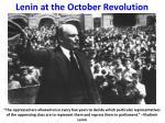 lenin at the october revolution