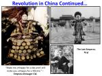 revolution in china continued