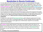 revolution in russia continued