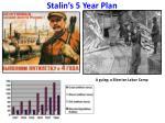 stalin s 5 year plan