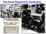 the great depression continued