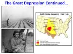 the great depression continued1