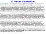 xi african nationalism