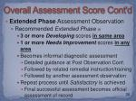 overall assessment score cont d