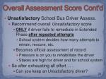 overall assessment score cont d1