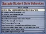 sample s tudent safe behaviors