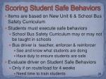 scoring student safe behaviors