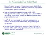 key recommendations of the cov part i