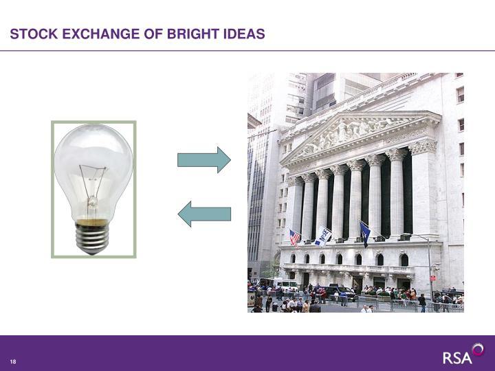 STOCK EXCHANGE OF BRIGHT IDEAS