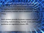 encourage and support smes to benefit from the growth of global markets actions