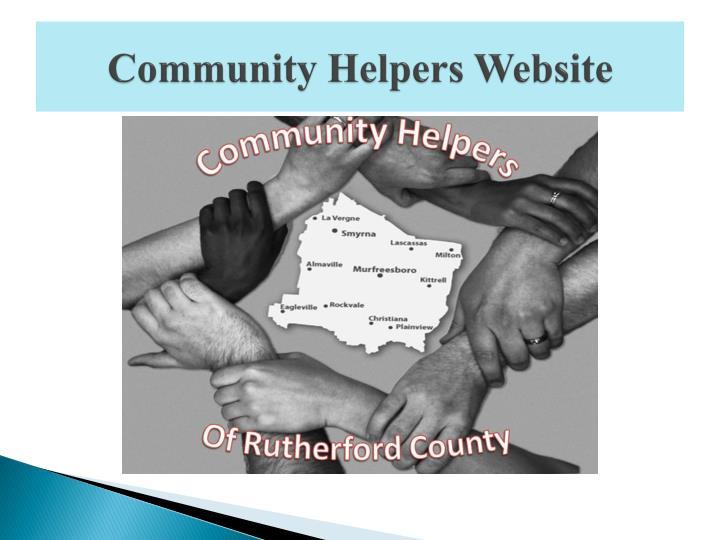 Community Helpers Website