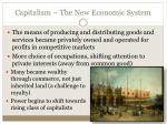 capitalism the new economic system