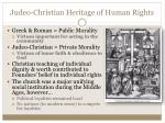 judeo christian heritage of human rights