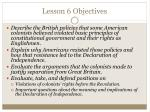 lesson 6 objectives