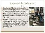 purpose of the declaration