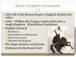 roots of english government