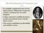 the development of common law
