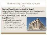 the founding generation s values