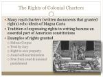 the rights of colonial charters