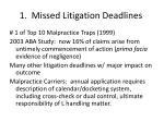 1 missed litigation deadlines