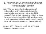2 analyzing coi evaluating whether consentable conflict