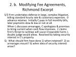 2 b modifying fee agreements richmond excerpt2