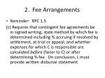 2 fee arrangements2