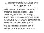 3 entrepreneurial activities with clients pp 341 46