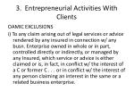 3 entrepreneurial activities with clients1