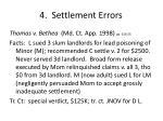 4 settlement errors1