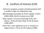 b conflicts of interest coi