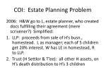 coi estate planning problem1