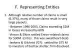 f representing entities